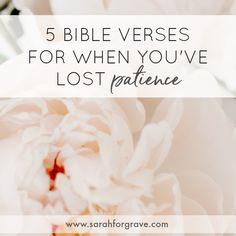 From motherhood to caregiving and everything in between, we practice patience every day. These 5 Bible verses will encourage and equip you in your journey. Bible Verses About Patience, Patience Quotes, Prayers For Hope, Scripture Quotes, Scriptures, Daily Encouragement, Christian Devotions, Journey, Lost