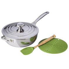 Le Creuset Palm 4 Piece Stainless Steel 3.5 Quart Chef's Pan Holiday Bundle Set * Don't get left behind, see this great  product : Chef's Pans