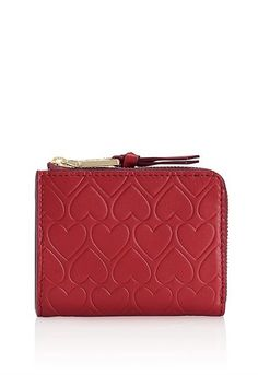 Valentine's Day Gifts: Tory Burch Heart-Embossed Half-Zip Card Case