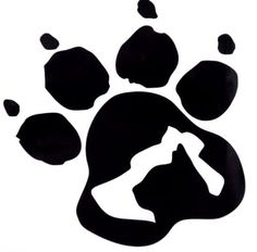 Dog & Cat Silhouette Paw Print Car Truck Window Vinyl Decal Sticker 12 COLORS #VinylDecalSticker