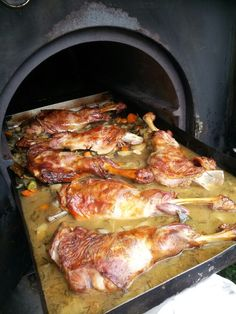 Roast Shoulder of Lamb. Restaurant Laup in Pollença. The other side of Mallorca