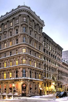 Place d'Armes Hotel & Suites (Montreal, Quebec, Canada) - Jetsetter. Place d'Armes' three towers date back to the now they're connected into a single landmark Old Montreal, Montreal Ville, Montreal Quebec, Justin Trudeau, Ottawa, Building Front, Classic Building, Hotel California, Quebec City
