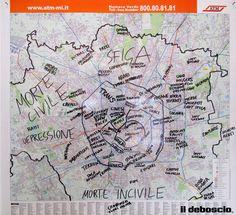 Milano - Mappa by Il Deboscio