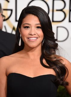 Gina Rodriguez at the 2015 Golden Globes