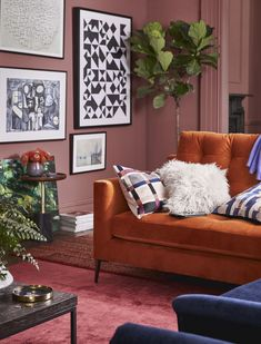 """Add lots of textures such as velvet, suede and sheepskin to really make a room tactile and homely"" says interior designer, Sophie Robinson."