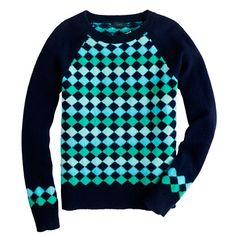 Lambswool diamond sweater