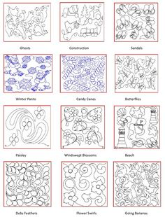 longarm quilting pattern book - Quilting Templates Free