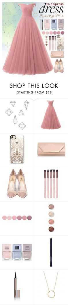 """""""Dreamy Dresses: Monochrome Ball gown"""" by patronus-moony-padfoot ❤ liked on Polyvore featuring Umbra, Casetify, Dorothy Perkins, Semilla, Deborah Lippmann, Terre Mère, Nails Inc., Smashbox, Hourglass Cosmetics and Chupi"""