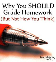 A creative way for teachers to hold students accountable for homework - while giving them room to make mistakes (AND not taking forever to grade it)
