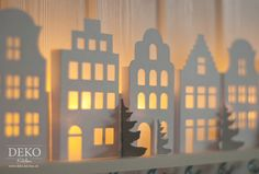DIY: Advent calendars with cute illuminated mini-houses- DIY: Adventskalender basteln mit süßen beleuchteten Mini-Häusern (Deko-Kitchen) DIY: Advent calendars with sweet illuminated mini-houses -