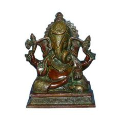 Lord Ganesh Ganesha Beautiful Hindu God Brass Statues for Gifts and... ($85) via Polyvore
