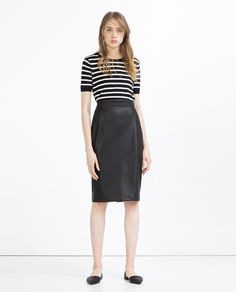 FAUX LEATHER PENCIL SKIRT-View All-LEATHER-WOMAN | ZARA United States