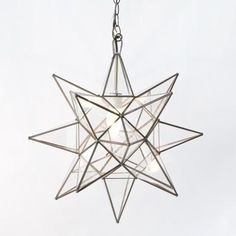 Star Pendant chandelier | Shop Greige $176 for front porch