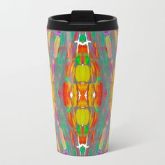 Dream Shade Sugarcane Pattern Metal Travel Mug by anoellejay | Society6 @anoellejay @society6 Perfect for coffee and tea from Starbucks