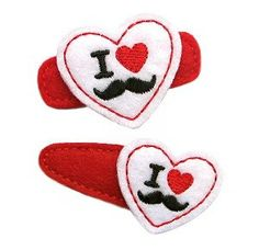 Mustache Hair Clip by SweetPeaStitches84 on Etsy, $3.50
