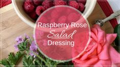 Making your own dressings is one of those places where even when you are strapped for time, you can go home-made.What are your go-to salads? How To Make Salad, Food To Make, Herbal Kitchen, Best Salad Dressing, Fresh Rose Petals, Eating Raw, Healthy Eating, Natural Health Remedies, Kinds Of Salad