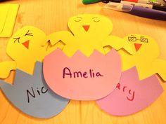 Cute spring door decs or name tags for teachers! Cubby Name Tags, Door Name Tags, Ra Door Tags, Door Decs, Daycare Names, Dorm Door Decorations, Green Front Doors, Spring Door, Classroom Door