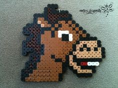 Bullseye the Horse Toy Story perler beads  by RockerDragonfly on deviantart
