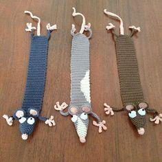 Boekratjes Boekratjes Knitting PatternsKnitting For KidsCrochet ProjectsCrochet Baby Marque-pages Au Crochet, Crochet Mouse, Crochet Books, Crochet Stitches, Free Crochet, Crochet Bookmark Pattern, Crochet Bookmarks, Amigurumi Patterns, Knitting Patterns