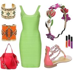 Neon Nude, created by leiastyle on Polyvore