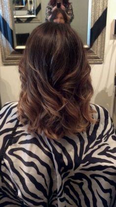 Ombre meduim length hair love it! So natural