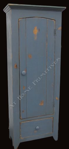 Blue Chimney Cupboard by At Home Primitives