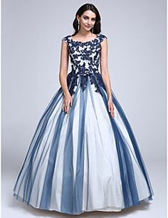 c1d6170bea2fff 2017 ts couture® prom Kleid Ballkleid scoop bodenlangen Spitze / Tüll mit  Applikationen / Sicken