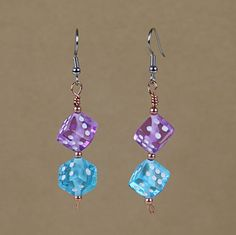 Bright Dice Earrings SS350 by PandaWear on Etsy, $9.00
