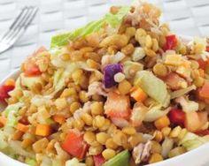Méli-mélo de lentilles en salade froide légère : http://www.fourchette-et-bikini.fr/recettes/recettes-minceur/meli-melo-de-lentilles-en-salade-froide-legere.html