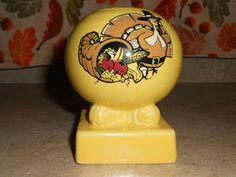 Fiesta Fiestaware Yellow Turkey Candleholder  Thanksgiving Dinner