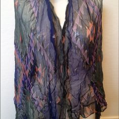 Scarf/Wrap Large wrap/scarf by Zazou. 100% Rayon. Like new condition. No trades Zazou Accessories Scarves & Wraps