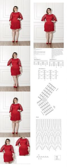 Red Dress of Crochet- Free Patterns - Crafts Ideas Free