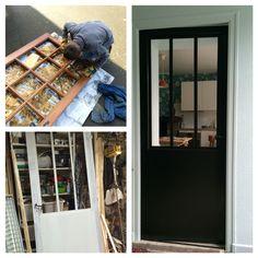 Diy une porte atelier a partir d 39 une porte vitree Relooker une porte vitree