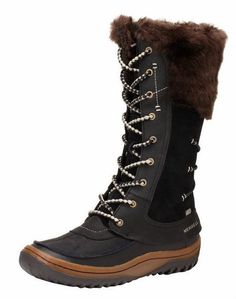 Merrell Womens Decora Prelude waterproof Winter Snow Fashion Black Brown Boots #Merrell #SnowWinterBoots