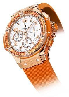 Orange Hublot Watch