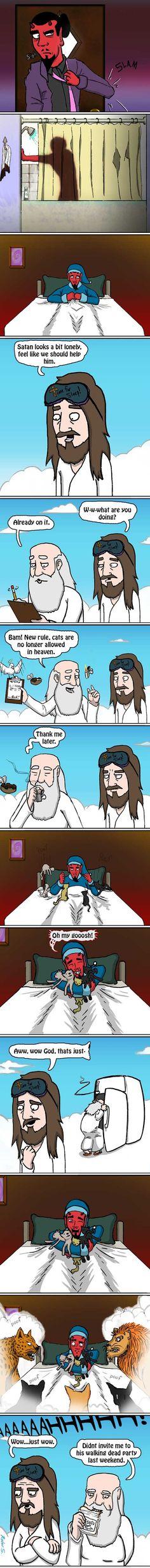 Should've invited God, Satan!!
