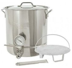 You'll be on your way to becoming a Brew Master with this Wine and Beer Home Brewing Kit. This Brewing Kettle is an all Stainless Steel construction with a tri-ply bottom, which means there is no interaction with acid wort and the even heating will prevent sugars from sticking and scorching. This kit is easy to use and it comes with everything you need to make your own brand of craft beers, right out of your own kitchen. Free Shipping   30 Day Returns   Secure Checkout