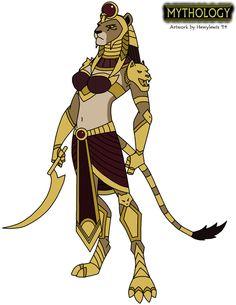 Mythology - Sekhmet 2014 by HewyToonmore on DeviantArt
