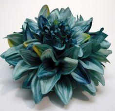 Silk Flowers  One Jumbo Boutique Quality Aqua by BlissfulSilks, $4.99