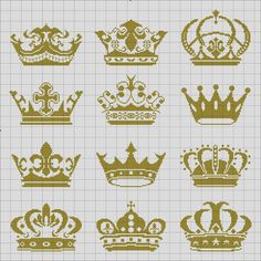 cross stitch crowns
