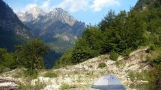 Rilinjda at Valbone Mountain in Albania.  See more of the best camping and backpacking spots in the Balkans!
