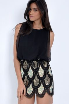 TFNC Lila Embellished Dress