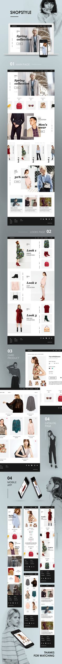 Website for clothing store UI/ UX design on Behance