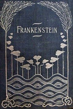 Frankenstein - Book cover - blue and silver