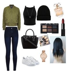 """#3"" by christellekay on Polyvore featuring Topshop, Miss Selfridge, Urban Bliss, NLY Accessories, adidas Originals, NARS Cosmetics, Elie Saab, Michael Kors and Tiffany & Co."