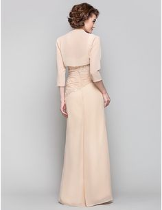 Sheath/Column One Shoulder Floor-length Chiffon Mother of the Bride Dress(568163) – USD $ 119.99