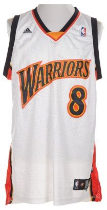 NBA Warriors White Basketball Vest.