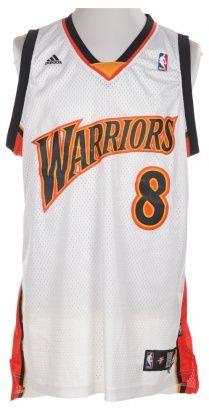 NBA Warriors White Basketball Vest.
