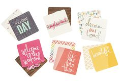 New 4x4 card packs @heidiswapp @beckyhigginsllc Project Life collection available at Michaels!