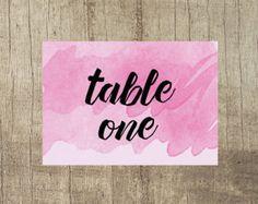 Rose Pink Table Number www.etsy.com/uk/shop/PippinPrints